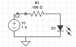 online circuit simulator \u0026 schematic editor circuitlabeasy wire mode screenshot