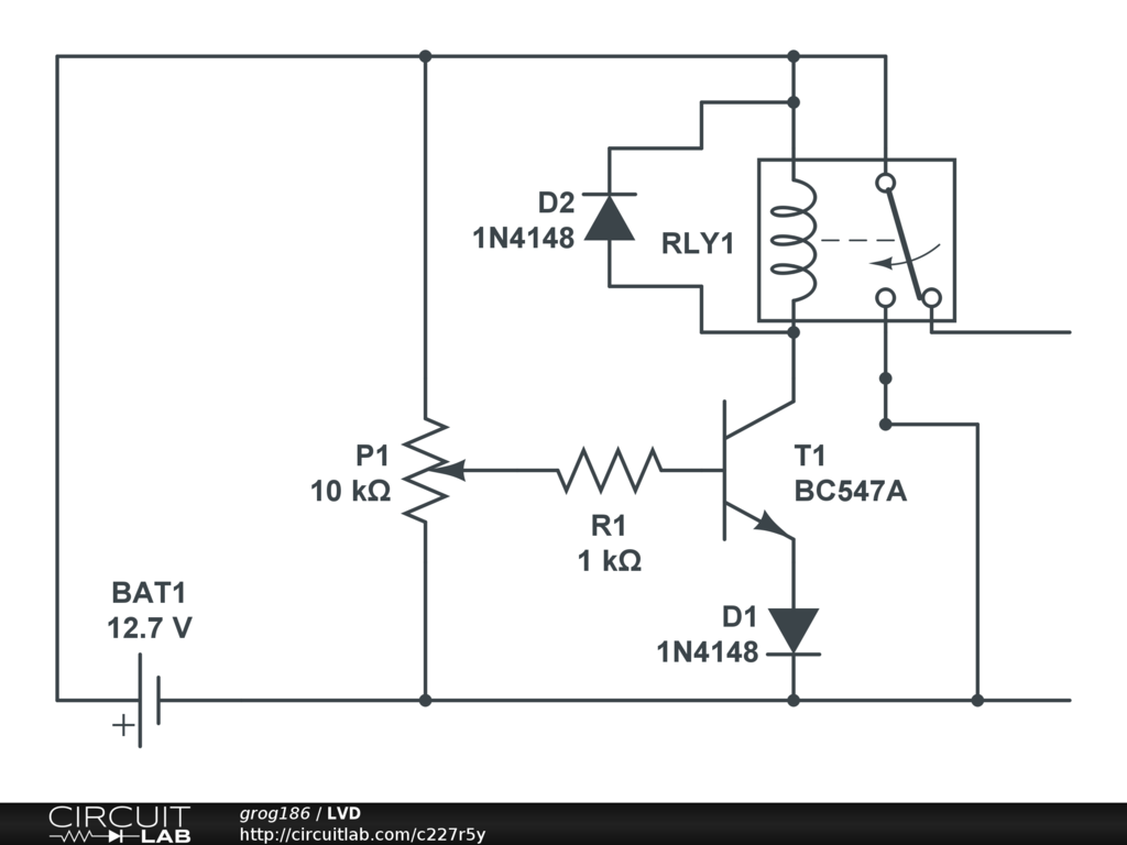 Low Battery And Overload Protection Circuit For Inverters Homemade Current Auto Cut Off Charger Using A Single Transistor Https Circuitlabcom 227r5y Screenshot 1024768