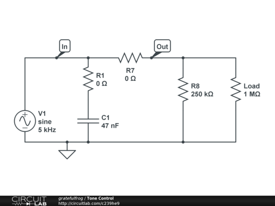 How to simulate an Electric guitar tone control? - Audio ...