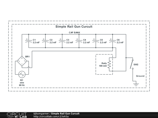Simple Rail Gun Curcuit - CircuitLab on