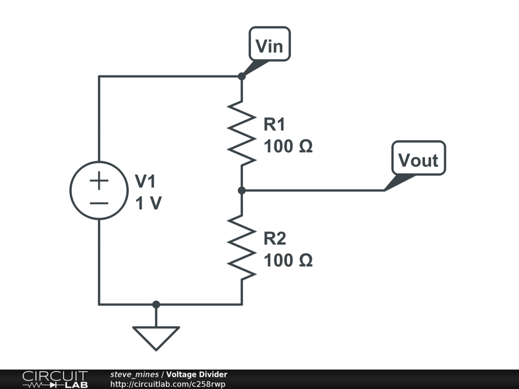 Voltage Divider Circuitlab Circuit