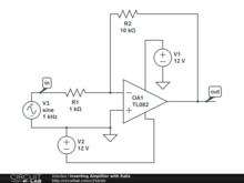 Inverting Amplifier with Rails
