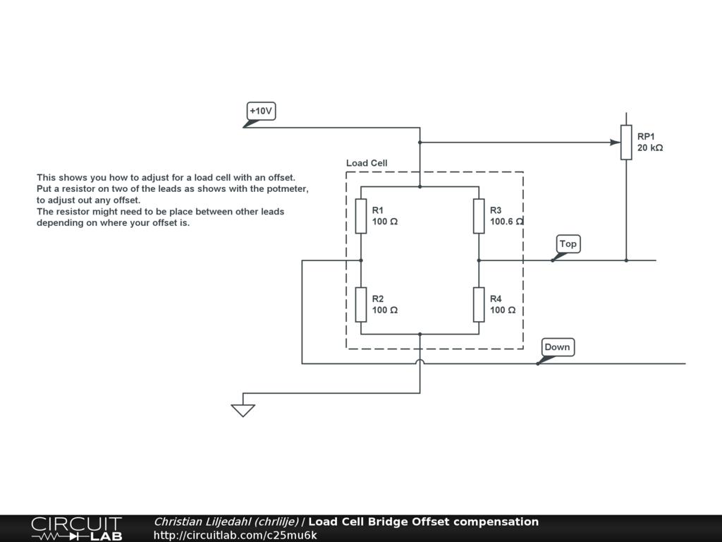 Load Cell Simulator Circuit Diagram Bridge Offset Compensation Circuitlabrhcircuitlab