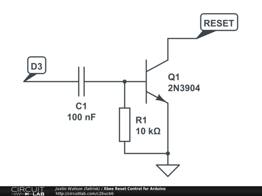 xbee reset control for arduino
