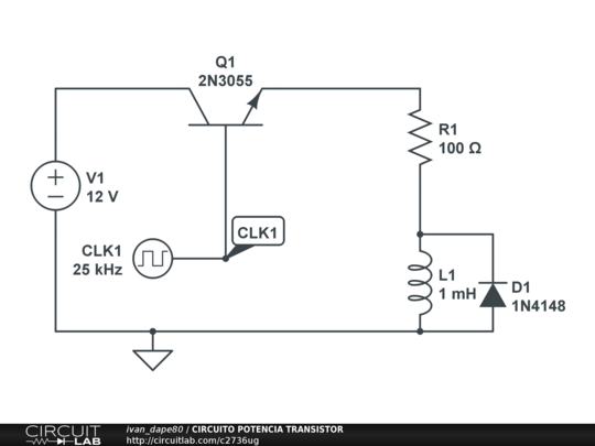 Circuito Transistor : Circuito potencia transistor circuitlab