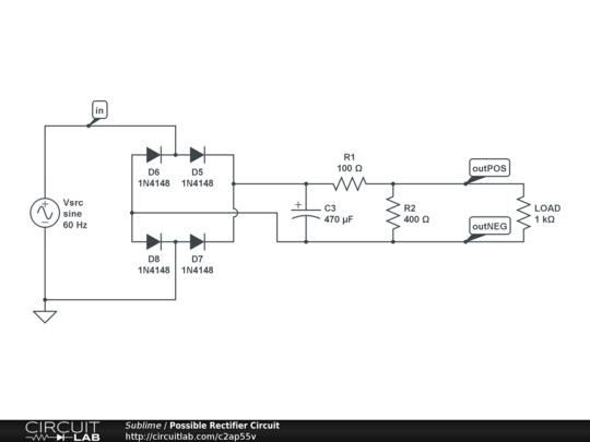 7kw Brushed Dc Motor Rectifier Circuit Circuitlab