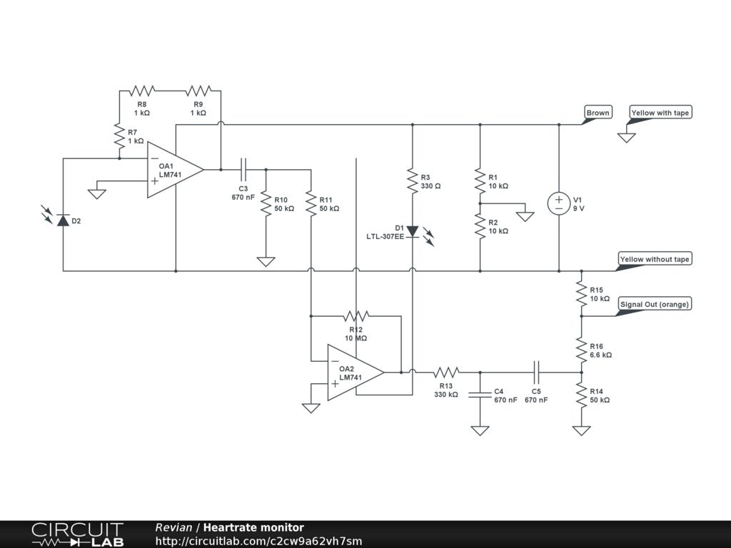 heartrate monitor circuitlab