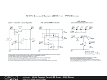 12-60V Constant Current LED Driver + PWM Dimmer