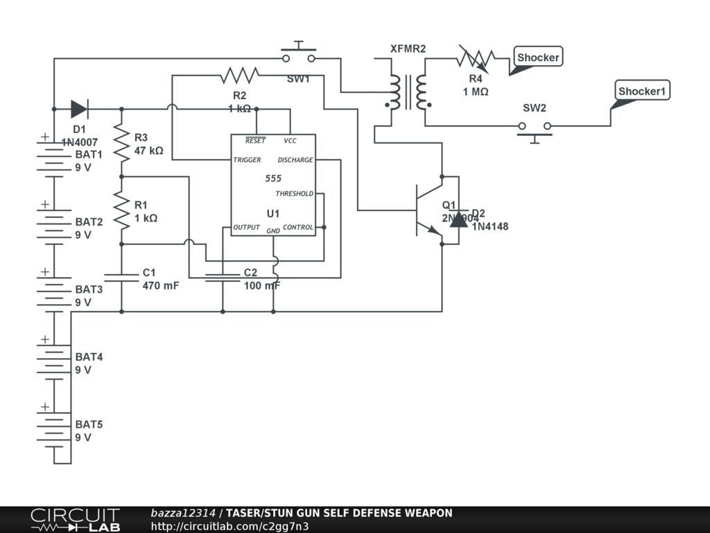 stun gun circuit schematic