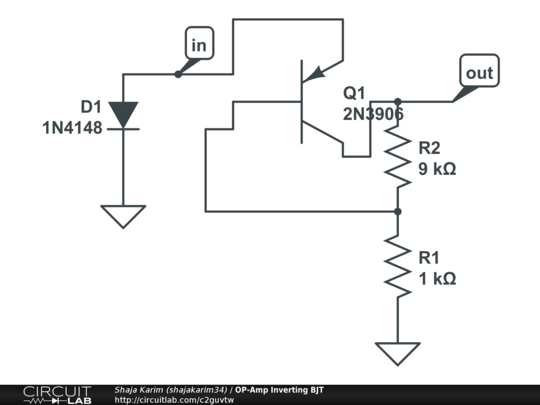 op-amp inverting bjt