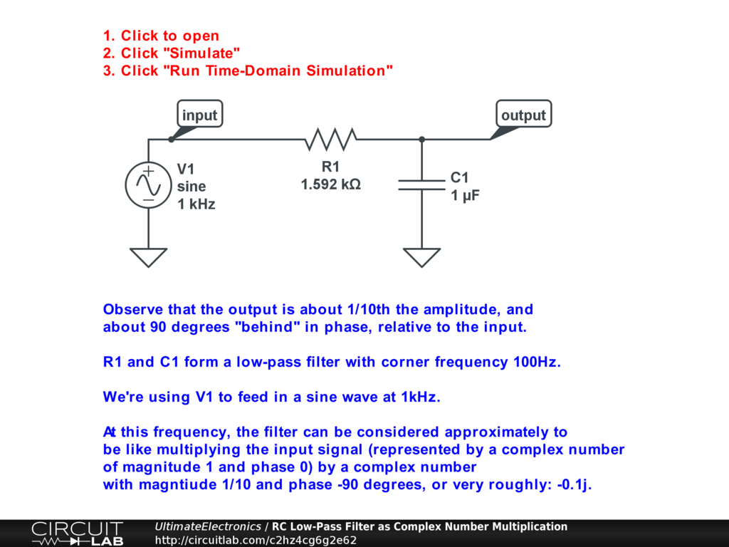 Chapter 1 Example Circuits Ultimate Electronics Book Circuitlab Rclowpassfiltercircuitdiagramjpg From