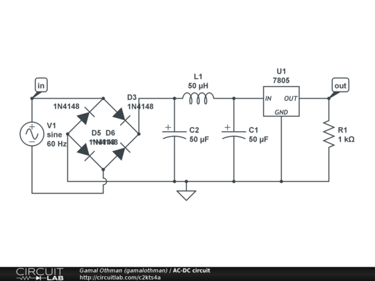 AC-DC circuit - CircuitLab on