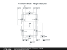 Common Cathode - 7 Segment Display