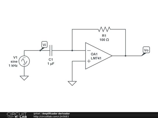 amplificador derivador
