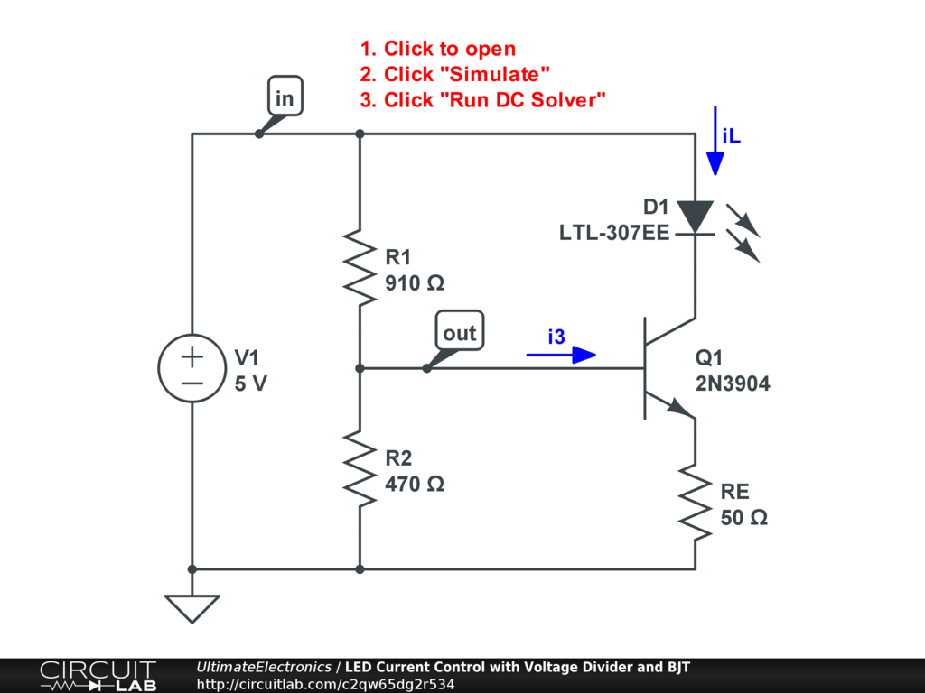 Voltage Dividers Ultimate Electronics Book Circuitlab Divider Circuit Diagram Interactive