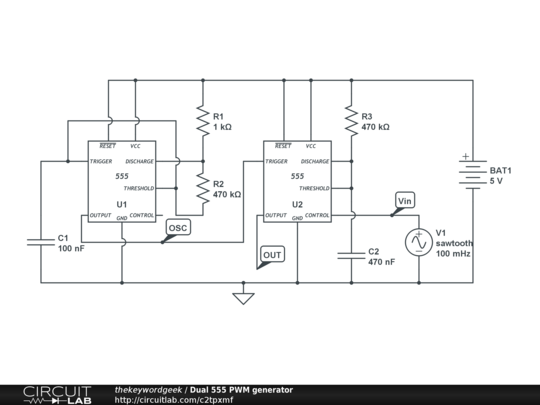 dual 555 pwm generator