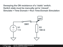 Sweeping a switch parameter 01