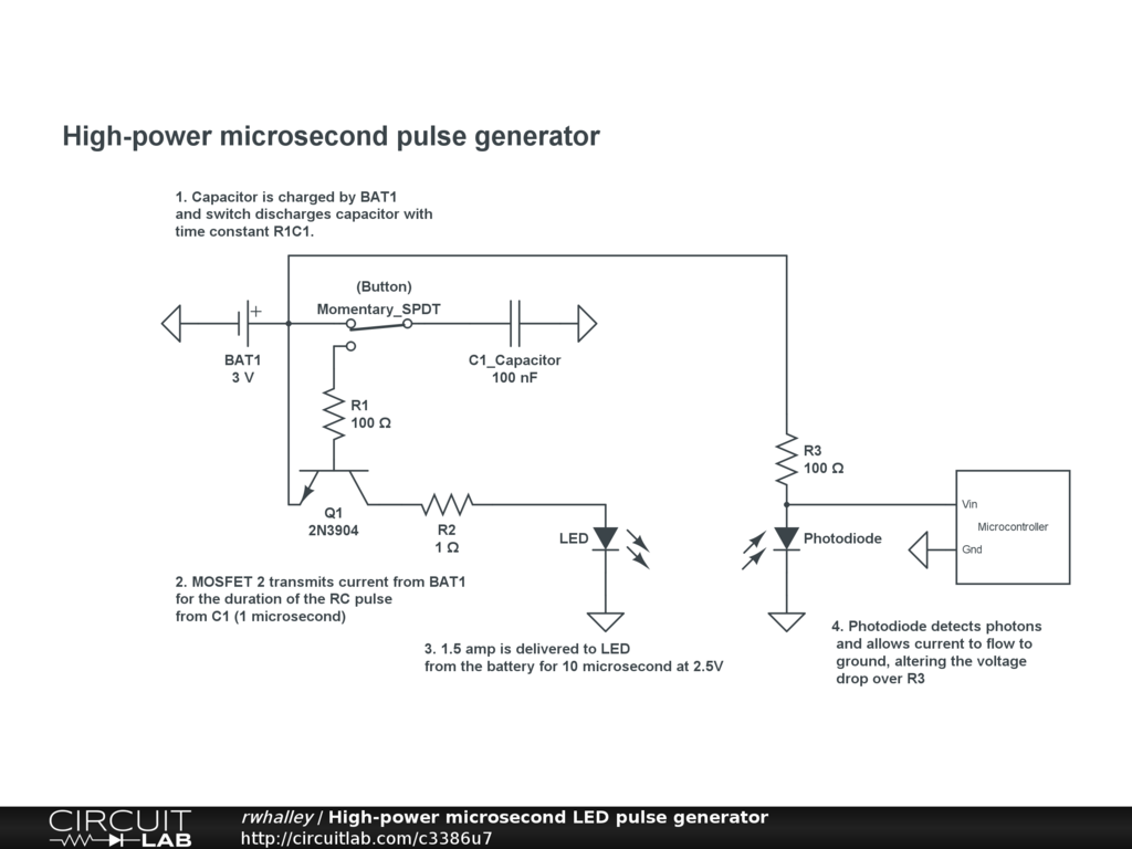 High Power Microsecond Led Pulse Generator Circuitlab Circuit Diagram