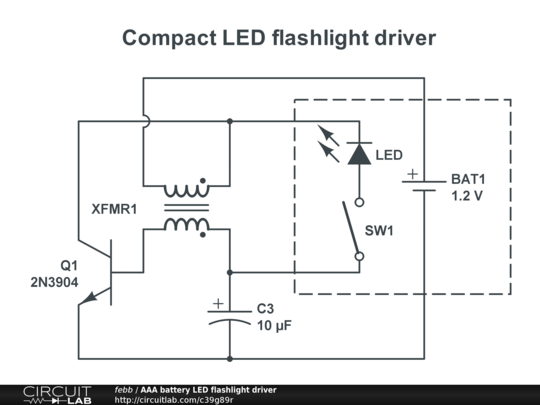aaa battery led flashlight driver public
