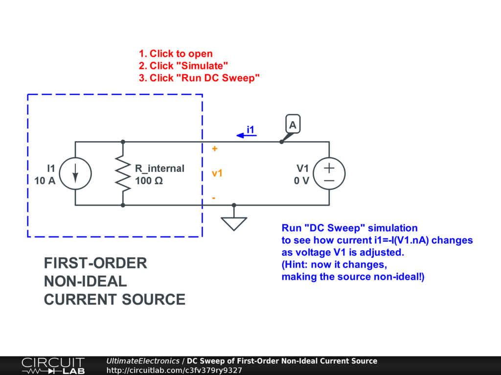 Ideal Sources Ultimate Electronics Book Circuitlab Series Circuit With A Voltage Source Such As Battery Or In This Interactive Exercise Click The