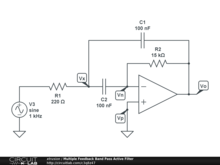 Multiple Feedback Band Pass Active Filter