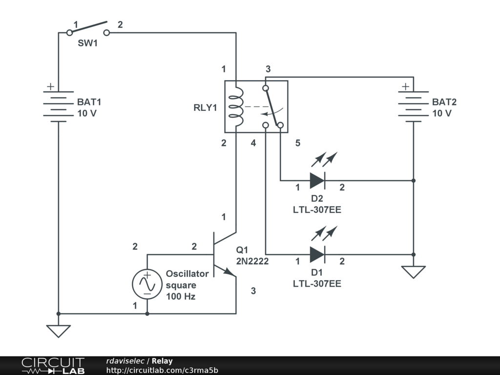 Public Circuits Tagged Relay Circuitlab How To Build Single Transistor Toggle Circuit A Simple