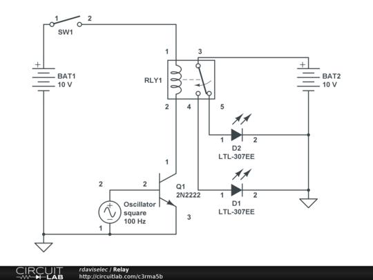 Relay CircuitLab