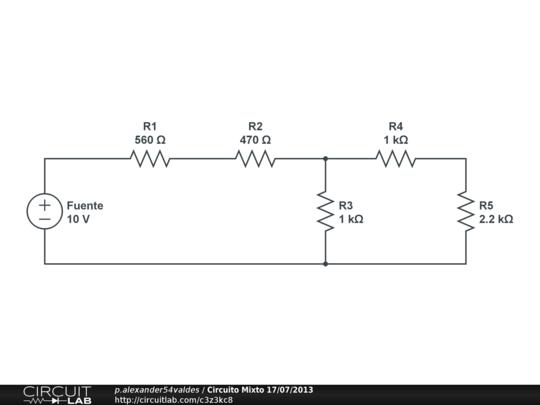 circuito mixto en serie y paralelo ejercicios  ejercicios de circuitos resistivos en serie y