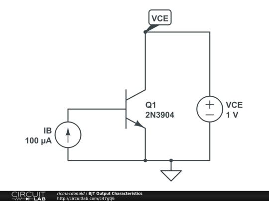 bjt output characteristics