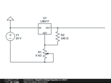 Negative Voltage Regulator w/ LM317