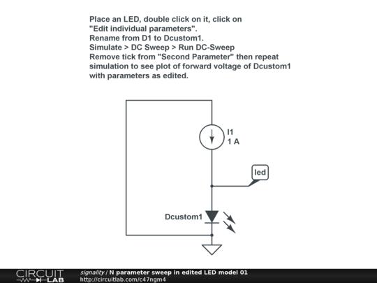 n parameter sweep in edited led model 01 circuitlab rh circuitlab com