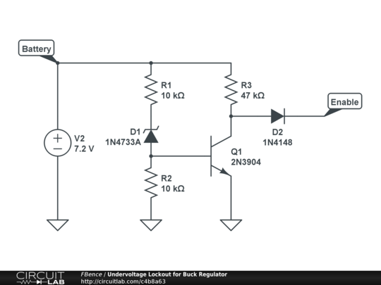 undervoltage lockout for buck regulator