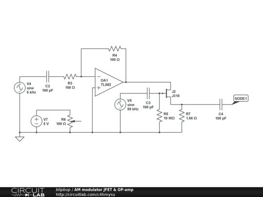 Am modulator jfet op amp circuitlab description publicscrutiny Gallery