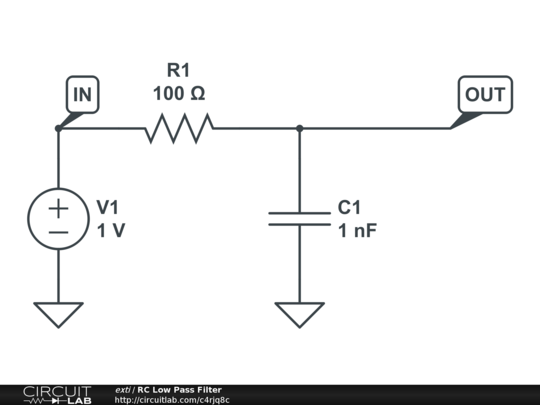 rc low pass filter