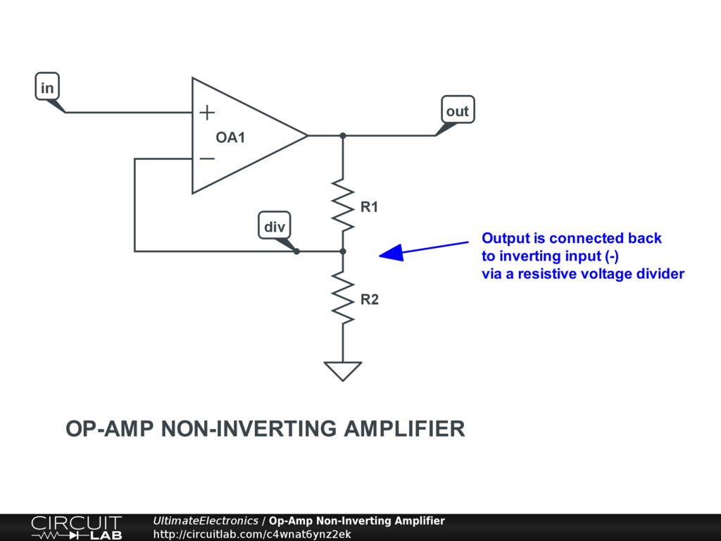 Op-Amp Non-Inverting Amplifier