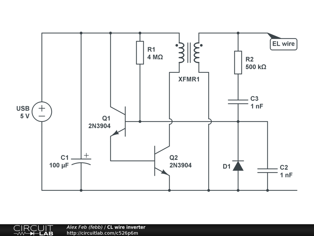 El Wiring Schematic Simple Diagram Inverter Wire Test Circuitlab 650 Yamaha Motorcycle Diagrams