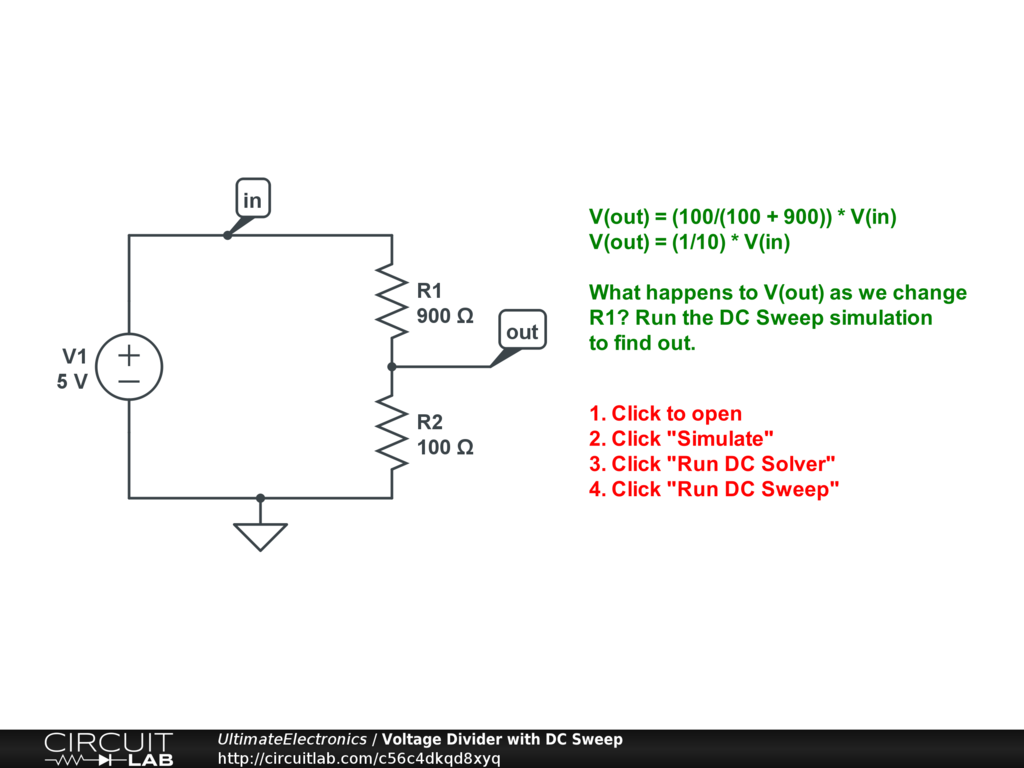 Chapter 2 Example Circuits Ultimate Electronics Book Circuitlab Screenshot Of Circuit In Falstad Simulator Voltage