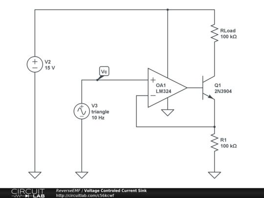 voltage controled current sink
