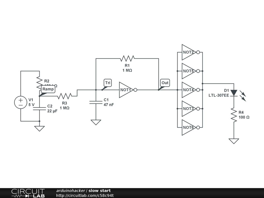 Adding A Soft Start To My Circuit Lm334z Current Regulator Circuitlab Zener Transistor It