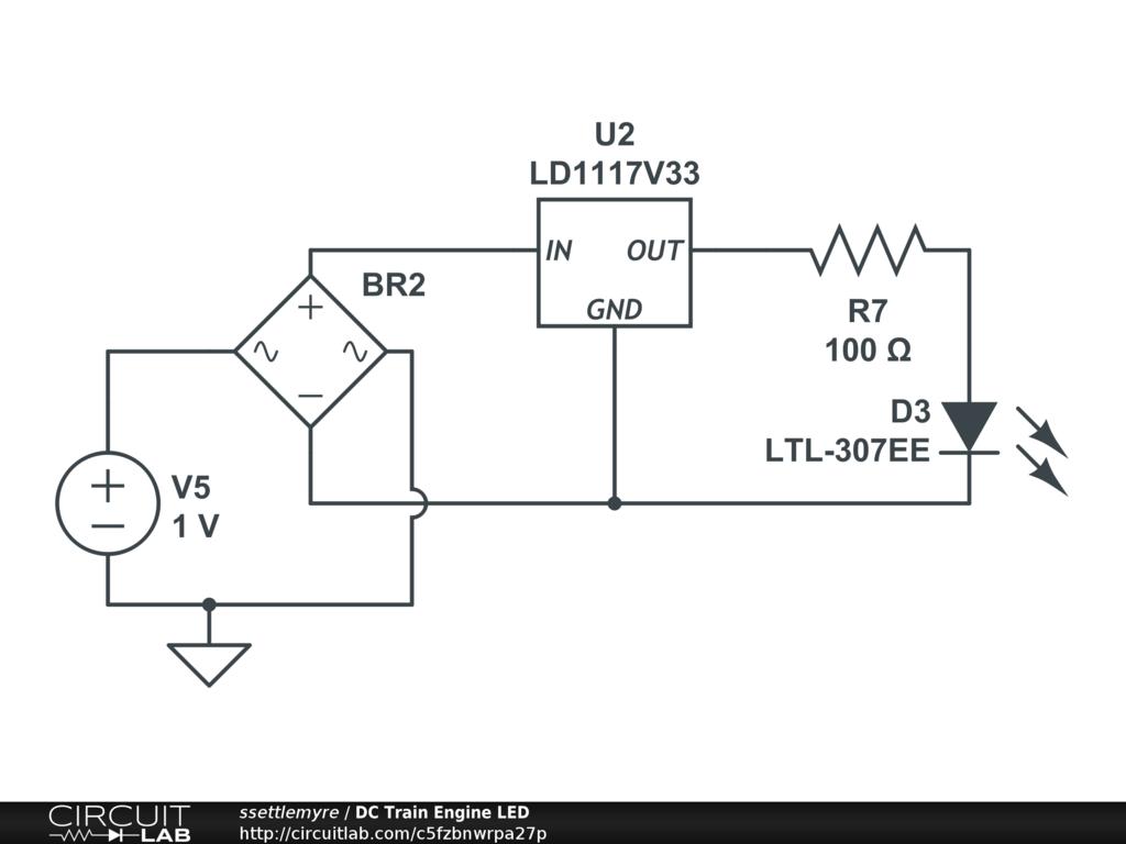 Dc Train Engine Led Circuitlab Diagram Circuit