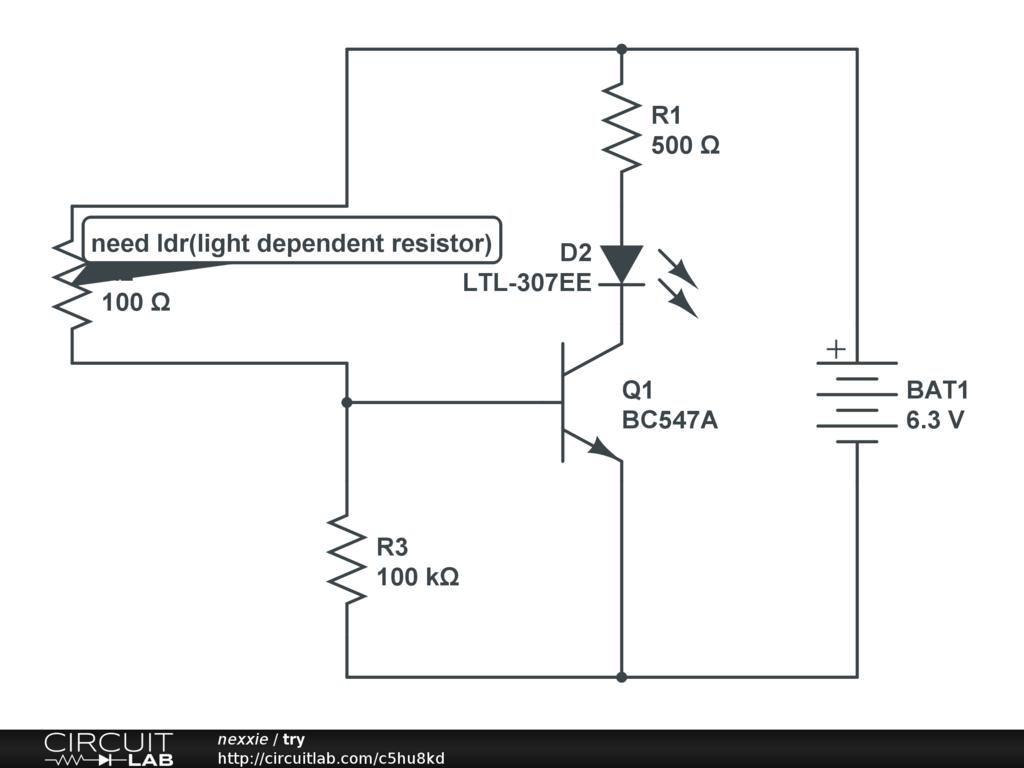 dark sensor using ldr - CircuitLab