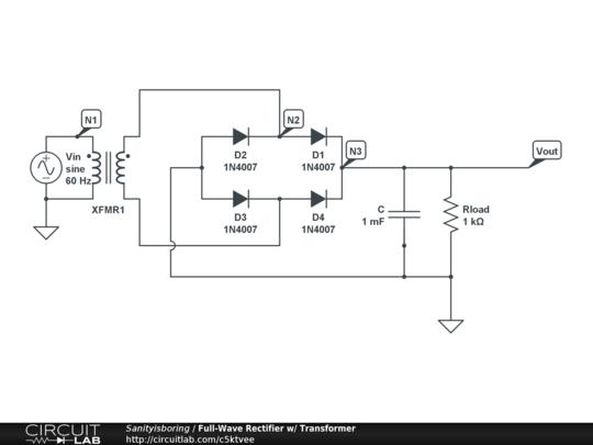 full wave rectifier w transformer circuitlab rh circuitlab com