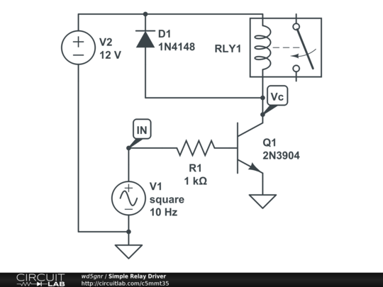 simple relay driver