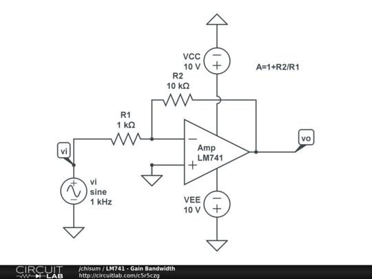 lm741 - gain bandwidth