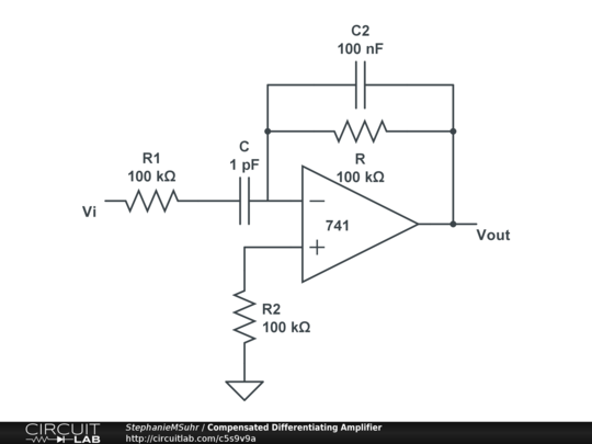 compensated differentiating amplifier