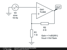 op amp non-inverting amplifier