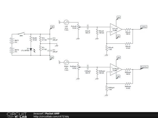 cmoy pocket amplifier circuitlab. Black Bedroom Furniture Sets. Home Design Ideas