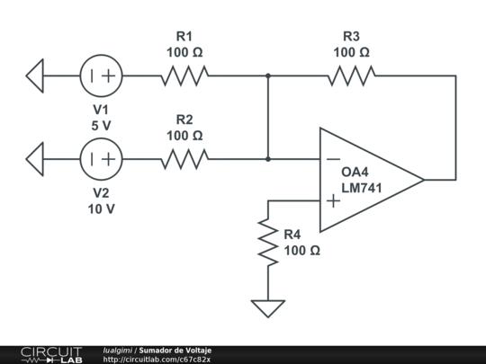sumador de voltaje