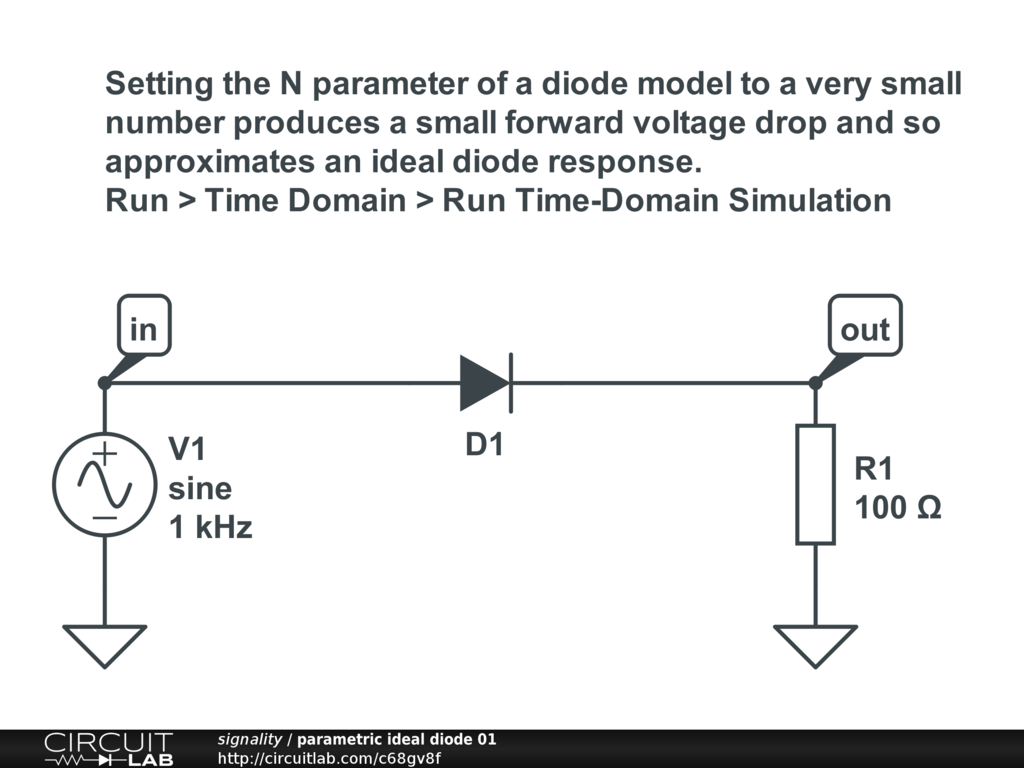 Easy Ideal Diode - Modeling and Simulation - CircuitLab
