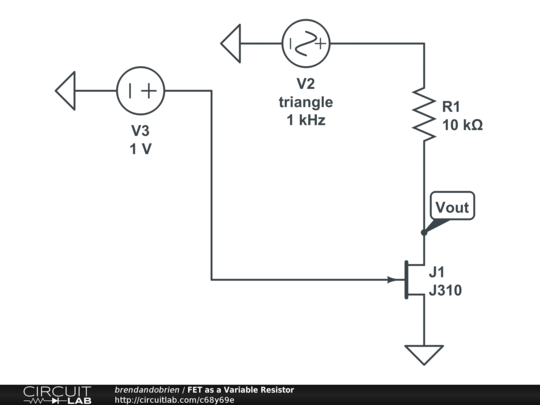 fet as a variable resistor